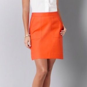 Ann Taylor LOFT orange skirt